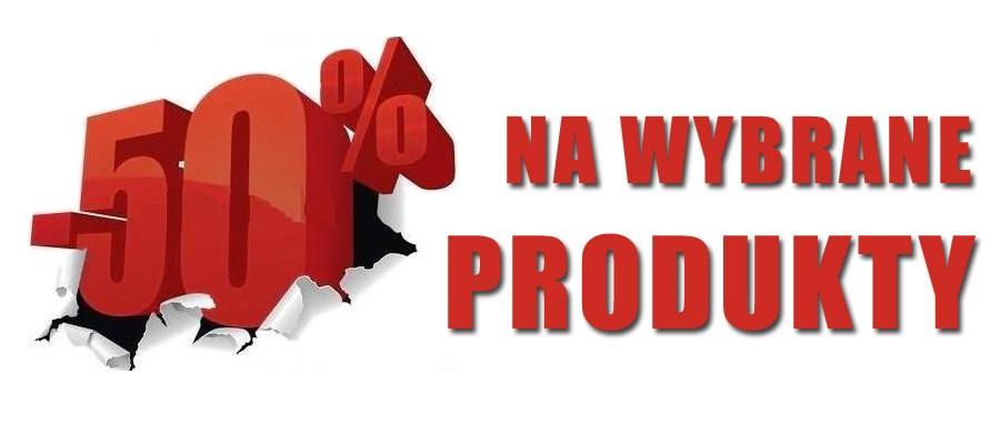 Promicja -50% na wybrane produkty